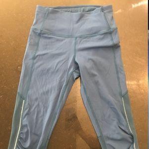 Cropped Blue Lululemon Leggings